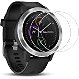 Toshion (2 Pack) Screen Protector for Garmin vívoactive 3,9H Hardness Tempered Glass Screen Protector for Garmin vívoactive 3 with Anti-fingerprint Bubble-Free Crystal Clear
