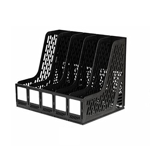 - Bookcases LDFN Document Box Plastic File Basket Data Rack Desktop Office File Bar Thickened,Black