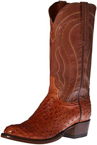 Lucchese Classics Men's Montana Burn F.q. Ost Tan Ranch Riding Boot