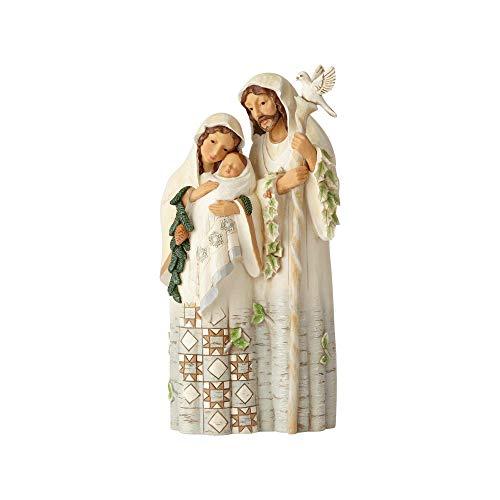 - Enesco Jim Shore Heartwood Creek White Woodland Holy Family