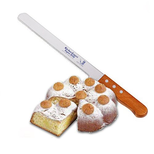17 Inch (12inch Blade)Cake Cheese and Bread knife Slicer Stainless Steel Serrated