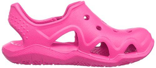Crocs 204021, Chaussures à Lacets Oxford Enfants Unisex, Rose (Neon Magenta), 32/33 EU