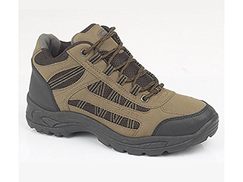 Boot Dek Trainers Ankle Khaki Trekking Walking Trail GRASSMERE xwAZUqS
