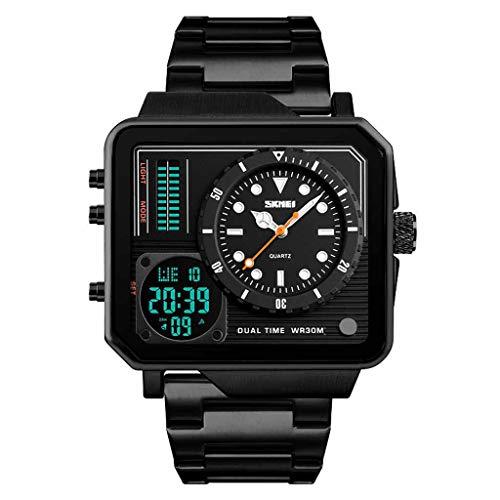Digital Mens Watch,Womens Quartz Watch,Men Sport Watches,Mechanical Chronograph Watch,Watch Chain Men,Brown Leather Watch Band,Womens Watch Digital