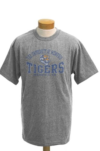 (NCAA Men's Memphis Tigers Saunders Short Sleeved T-Shirt (Athletic Heathered Grey, Large))