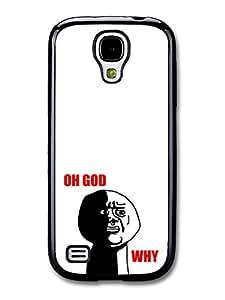 Meme Oh God Why Black and White Illustration Emoji case for Samsung Galaxy S4 mini