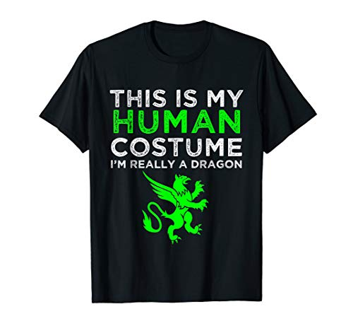 This Is My Human Costume I'm Really A Dragon Shirt -