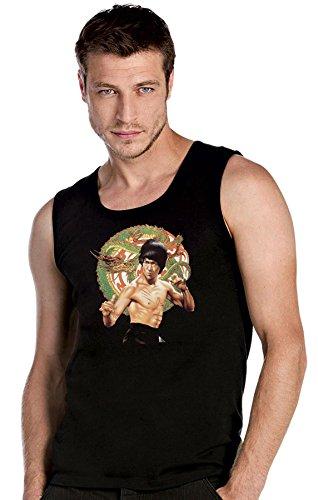 BRUCE LEE KARATE Drache! COOLES schwarze Top Tank T-Shirt -2089