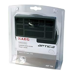 AEG AEF 136 - Juego de filtros HEPA para aspiradoras AEG Electrolux Aptica (serie ATT 79, 1 filtro HEPA y 1 filtro de motor)