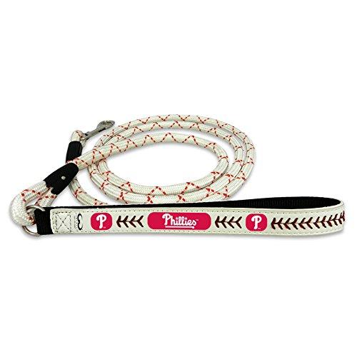 Phillies Philadelphia Leather Baseball (GameWear Philadelphia Phillies Frozen Rope Baseball Leather Leash, Medium)