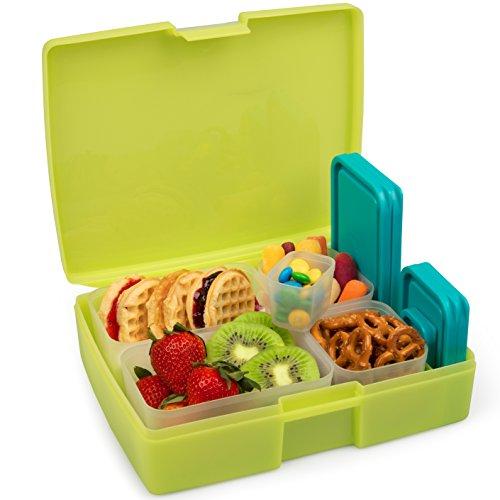 (BENTOLOGY Lime & Turquiose Bento Box Set 6 Pc, 1 EA)