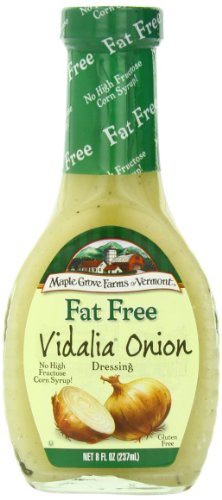 Maple Grove Farms Organic Dressing, Vidalia Onion, 8 Ounce (Pack of 12)