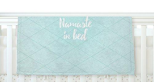 KESS InHouse KESS Original Namaste In Bed Teal Blue White Fleece Baby Blanket 40 x 30 [並行輸入品]   B077ZVT8WL
