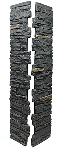 (NextStone Slatestone Split Post Cover 8x8x41 Rocky Mountain Graphite)