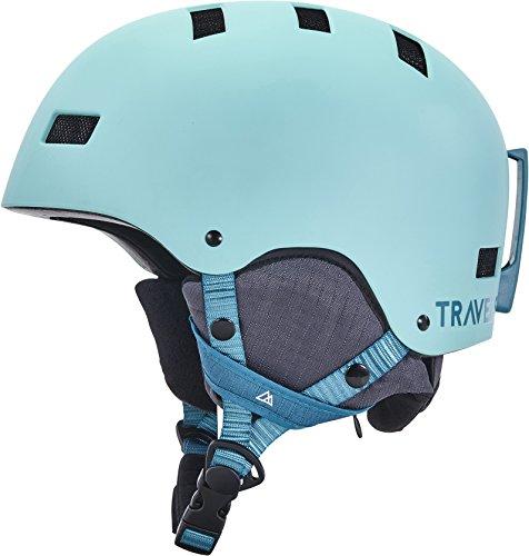 Traverse Sports Dirus Convertible Ski & Snowboard/Bike & Helmet, Matte Glacier, Large (59-63cm)