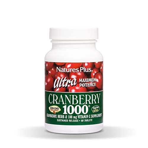 Cheap Natures Plus Ultra Cranberry 1000-1000 mg, 90 Vegetarian Tablets, Sustained Release – Natural Cranberry Supplement, Helps Prevent UTIs – Non GMO, Gluten Free – 90 Servings