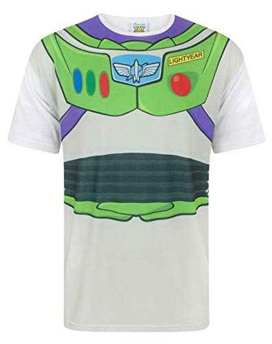 Disney Toy Story Buzz Lightyear Costume Men's T-Shirt (M)]()