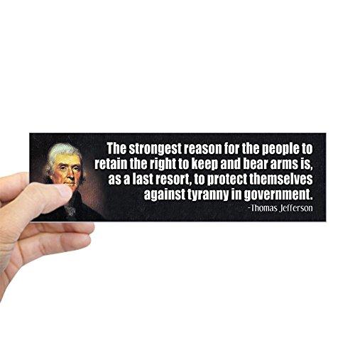 CafePress Jefferson: 2Nd Amendment Bumper Sticker 10
