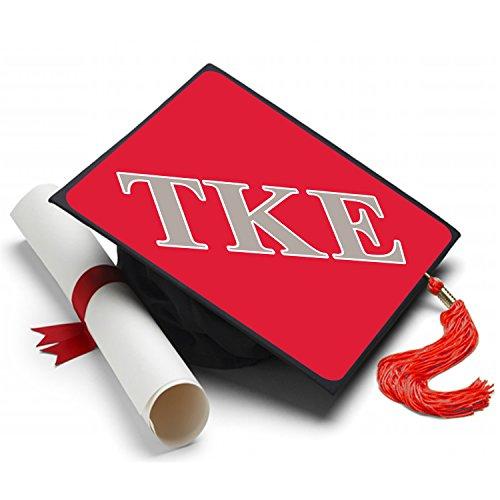 Sorority Big Little Reveal Costumes (Tau Kappa Epsilon Graduation Cap Hat Topper Decoration Fraternity 8.5 x 8.5 Inch)
