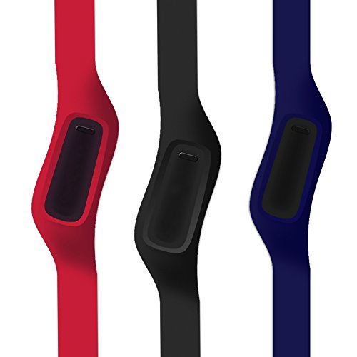 WoCase OneBand (Old Version) Fitbit ONE Accessory Wristband Bracelet (Classic Pack of 3) for Fitbit ONE Activity and Sleep Tracker (Turn Your Fitbit ONE into Wearable Flex/Force/Charge)