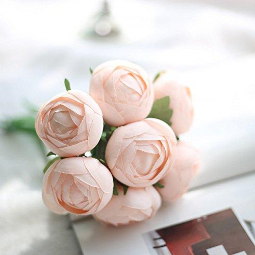 Artificial Fake Silk Daisy Flower Bouquet 1Bunch Green - 9