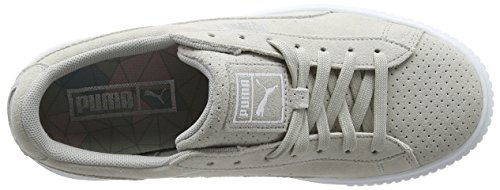 Basses Gris Suede Gray Perf Silver Violet Sneakers Puma Platform Femme xIqpwFx