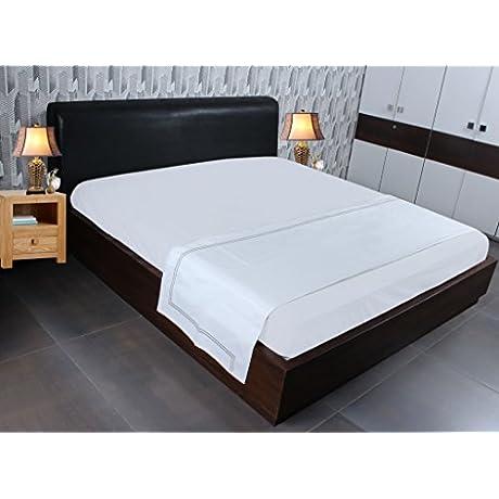 Sferra Flat Bedsheet Egyptian Cotton Queen Grey