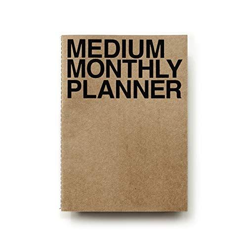 JSTORY Medium Personal Wide Spaces Undated Monthly Planner 18 Sheets