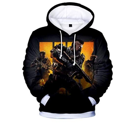 Zp Call of Duty Cosplay Fashionable and Handsome Costume Autumn Hoodies (Kids-L, Black Yellow) -