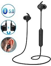 Cuffie Bluetooth Sportivo, YINSAN Auricolari Magnetici Bluetooth 5.0, Cuffie In Ear Wireless Senza Fili Sport con Microfono HD, 8 Ore di Musica, Impermeabile IPX5 per Corsa, Palestra, Jogging