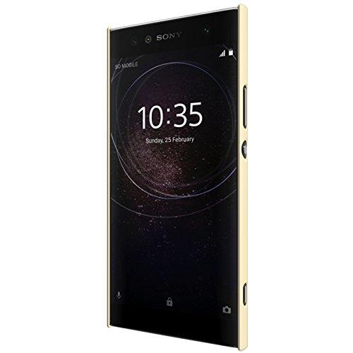 LSY Calidad cáscara de la Funda case cover protectora de alta dura para SONY Xperia XA2 Ultrasmartphone Protector de pantalla (rojo) dorado