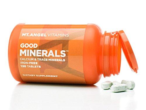 Mt. Angel Vitamins - Good Minerals, Calcium & Trace Minerals Iron-Free (120 Tablets)
