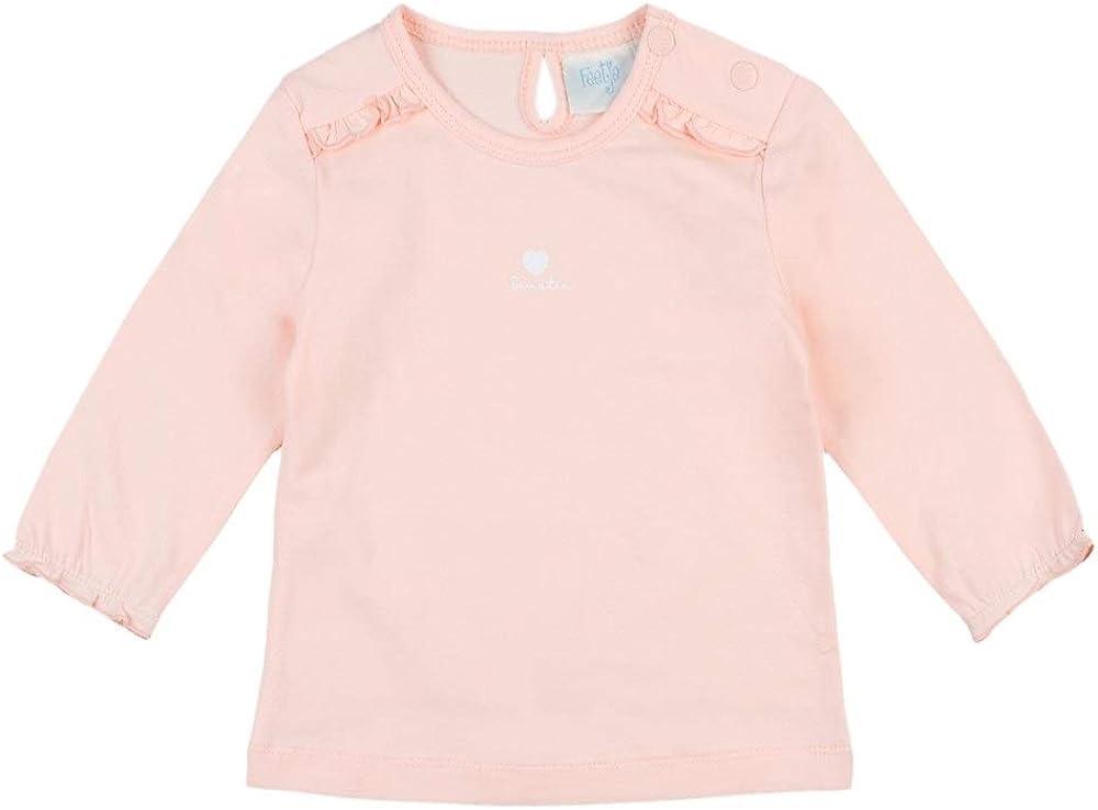Feetje Baby-M/ädchen Langarmshirt einfarbig Basic mit R/üschen