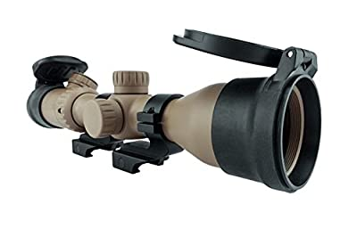 Monstrum Tactical 3-12x42 AO Rifle Scope with Illuminated Mil-Dot Reticle and Offset Reversible Scope Rings