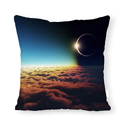 Diuangfoong Solar Eclipse Shadow On Earth Pillow Covers Pillowcase 14x14 Inch
