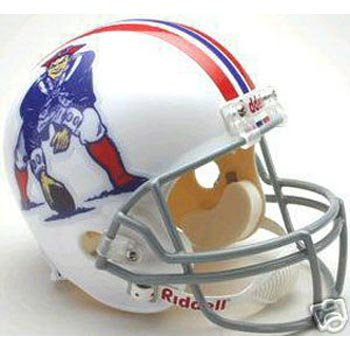 Riddell NEW ENGLAND PATRIOTS 1965-1981 NFL Full Size REPLICA Throwback Football (Nfl Throwback Football Helmet)