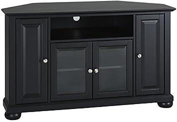 Crosley Furniture Alexandria 48 Inch Corner TV Stand   Black