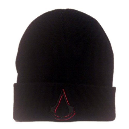 Adult Black Assassin's Creed Logo Cuff Beanie