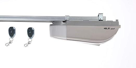 Garagentoröffner 600N bis 8m² und 90 kg Garagentorantrieb + 2 Handsender (Grey)