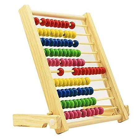 Jingyuu Giochi Bambini Legno Giochi Montessori Rack di Elaborazione Abaco sussidio didattico in Legno Giocattolo di educazione precoce