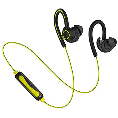 Wireless bluetooth headphones for running.  Sweatproof
