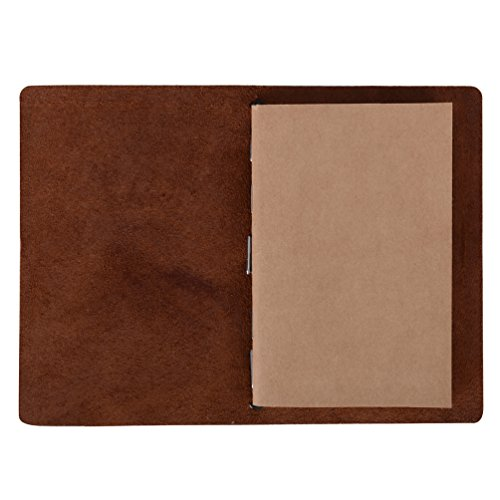 Field Notes Cover - Dotted Leather Journal 3.5 x 5.5 Travelers Notebook (64 Pages | Pocket Size | Refillable | Dark Brown) Photo #3