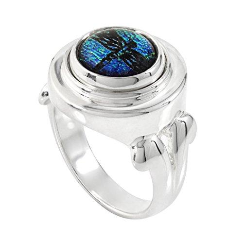 (Kameleon Jewelry Sterling Silver Swirls Top Ring KR014 Size 6 )