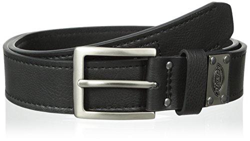 Dickies Men's Industrial Strength Logo Plague Belt,Black,36 (Mens Dickies Belt)