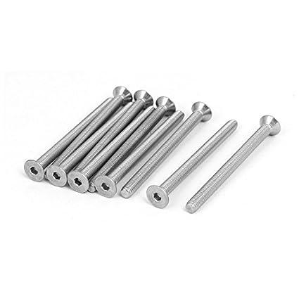 eDealMax M5x65mm 304 plana de acero inoxidable tornillos de ...
