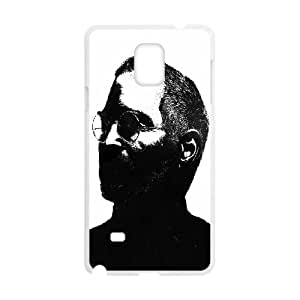 Steve Jobs Black and White Illustration Samsung Galaxy Note 4 Cell Phone Case White toy pxf005_5802346