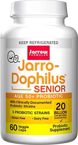 Senior Jarro-Dophilus, 20 Billion Viable Cells Per Capsule, 60 Veggie Caps (Cool Ship, Pack of 3)