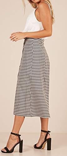 de t Fte Soire Femmes Ajoure avec Jupe Midi Noir Fendue Haute Jupe Elegante Jupes Mode Monika Plage Bal de Grille Taille Pwydfqw4