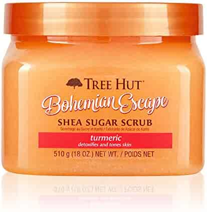 Tree Hut Shea Sugar Scrub Bohemian Escape, 18oz, Ultra Hydrating & Exfoliating Scrub for Nourishing Essential Body Care