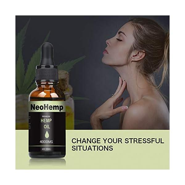 NeoHemp Hemp Oil Drops 10000mg |10ml, Vegan & Vegetarian Friendly – Mirror Recommended